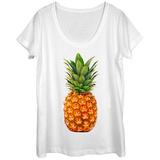 Womans: The Pineapple Scoop Neck Skjorter