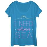 Womans: Vitamin Sea Scoop Neck Koszulki