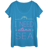 Womans: Vitamin Sea Scoop Neck T-Shirts