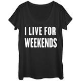 Womens: Live For Weekends Scoop Neck Vêtement