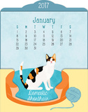 The Cat's Meow - 2017 Easel Calendar Kalenders