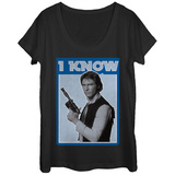 Womans: Star Wars- Han Knows Scoop Neck T-Shirts
