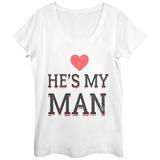 Womens: He's My Man Scoop Neck Vêtement