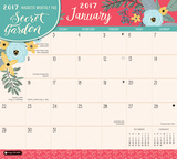 Secret Garden - 2017 Monthly Calendar Pad Calendars