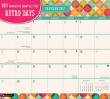 Retro Days Magnetic - 2017 Monthly Calendar Pad Kalendere