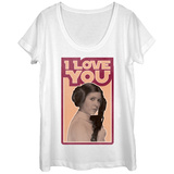 Womans: Star Wars- Leia Love Scoop Neck T-Shirt