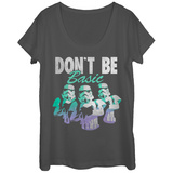 Womans: Star Wars- Don'T Be Basic Faded Scoop Neck T-Shirt