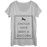 Womans: Shoulda Been A Unicorn Scoop Neck Bluser