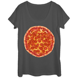 Womans: Ummm Pizza Scoop Neck Bluse