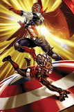 The Astonishing Ant-Man No.3 Cover, Featuring Falcon Cap and Ant-Man Posters
