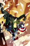 Captain America: Sam Wilson No.4 Cover, Featuring Viper (Jordan Stryke) and Falcon Cap Prints