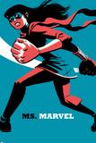Ms. Marvel No.4 Cover, Featuring Ms. Marvel (Kamala Khan) Metal Print