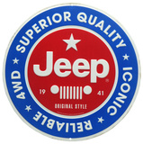 Jeep Round Tin Sign