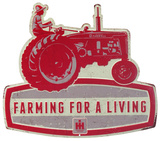 Farmall Farming For a Living Tin Sign