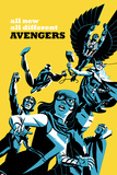 All-New, All-Different Avengers No.5 Cover, Featuring Falcon Cap and More Metal Print