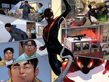 Spider-Man No.1 Panel, Featuring Miles Morales,  Ultimate Spider-Man Morales and Ganke Lee Poster