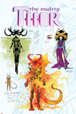 Mighty Thor No.3 Cover, Featuring Hela, Karnilla and Queen of Cinders Posters