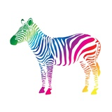 Zebra Color (Cmyk) Prints by  olive1976
