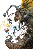 Ultimates No.4 Cover, Featuring Black Panther, Monica Rambeau, Captain Marvel, Blue Marvel and More Prints by Kenneth Rocafort