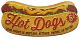 Hot-dogs Plaque en métal