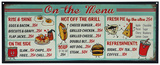 Diner Menu Tin Sign