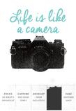 Life Is Like A Camera Plakát