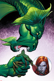 Totally Awesome Hulk No.3 Panel, Featuring Fin Fang Foom, Totally Awesome Hulk and Lady Hellbender Plastic Sign