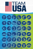 Olympics 2016- Team Usa Events Print