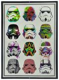 Star Wars Stormtroopers Watercolors Cartel de chapa