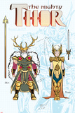 Mighty Thor No.2 Cover, Featuring Odin and Frigga Prints
