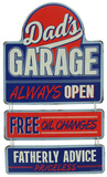 Dad's Garage Linked Sign Plaque en métal
