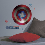Captain America Shield Civil War Peel and Stick Giant Wall Decals Veggoverføringsbilde