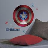 Captain America Shield Civil War Peel and Stick Giant Wall Decals - Duvar Çıkartması