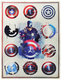 Captain America Sketch Tin Sign