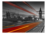 London Westminster Bridge & Red Bus Prints by Melanie Viola