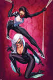 Silk No.3 Cover, Featuring Silk and Black Cat Prints by J. Scott Campbell