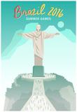 Brazil 2016 Summer Games Plakater