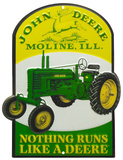 John Deere Nothing Runs Like a Deere Tin Sign