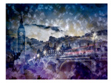 City-Art London Westminster Bridge At Sunset Posters by Melanie Viola