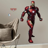 Iron Man Civil War Peel and Stick Giant Wall Decals Seinätarra