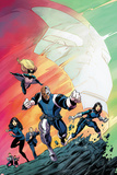 Agents of S.H.I.E.L.D. No.1 Cover, Featuring Man, Mockingbird, Deathlok, Melinda May and More Plastic Sign by Mike Norton