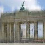 City Art Berlin Brandenburg Gate Print by Melanie Viola