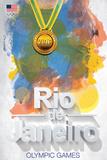 Olympics 2016- Rio De Janeiro Color Bursts Posters