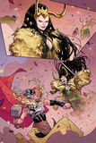Mighty Thor No.3 Panel, Featuring Loki and Thor (Female) Prints