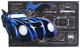Batman Batmobile Schematic Cartel de chapa