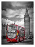 London Westminster Bridge Traffic Posters af Melanie Viola