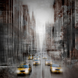 City Art 5Th Avenue Yellow Cabs Posters by Melanie Viola