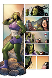 Totally Awesome Hulk No.3 Panel, Featuring She-Hulk, Maddy Cho and Ultimate Spider-Man Morales Poster