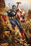 All-New, All-Different Avengers No.4 Cover and Featuring Captain America Prints by Mark Brooks