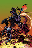 Mike Deodato - Carnage No.3 Cover, Featuring Spider-Man, Demogoblin, Shriek, Venom, Carnage and Doppleganger Plastové cedule